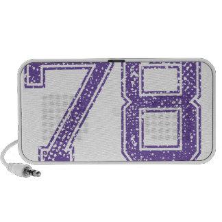 La púrpura se divierte el número 78.png de Jerzee Mini Altavoces