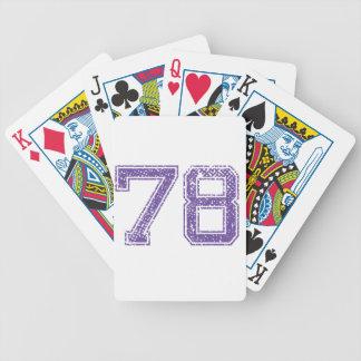 La púrpura se divierte el número 78.png de Jerzee Baraja Cartas De Poker