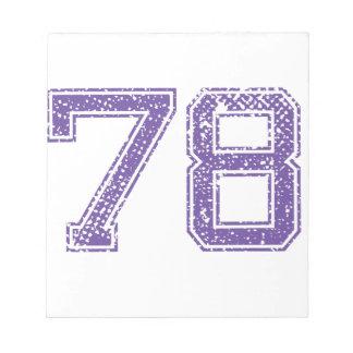 La púrpura se divierte el número 78.png de Jerzee Libretas Para Notas