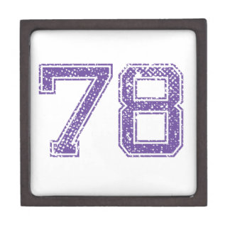 La púrpura se divierte el número 78.png de Jerzee Cajas De Joyas De Calidad