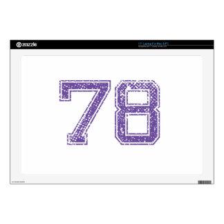 La púrpura se divierte el número 78.png de Jerzee 43,2cm Portátil Calcomanías