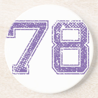 La púrpura se divierte el número 78.png de Jerzee Posavasos De Arenisca