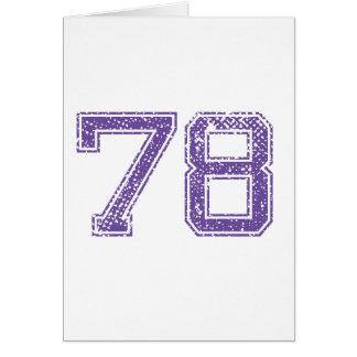 La púrpura se divierte el número 78.png de Jerzee Tarjeta De Felicitación