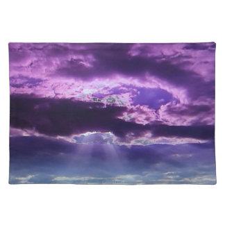 La púrpura se nubla las esteras de lugar mantel individual