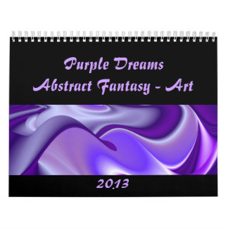 La púrpura soña Fantasía-Arte abstracto Calendarios