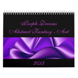 La púrpura soña Fantasía-Arte abstracto Calendarios De Pared