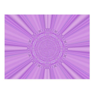 La púrpura violeta irradia el arte de Digitaces Postal