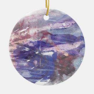La púrpura y el azul se descoloraron impresión adorno de reyes