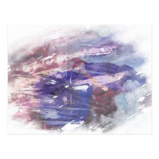 La púrpura y el azul se descoloraron impresión postal