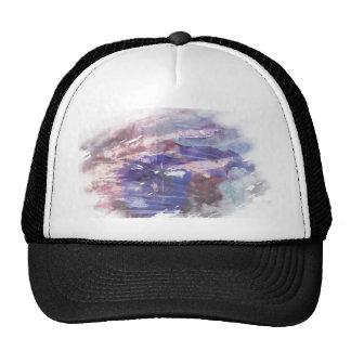 La púrpura y el azul se descoloraron impresión ras gorras de camionero