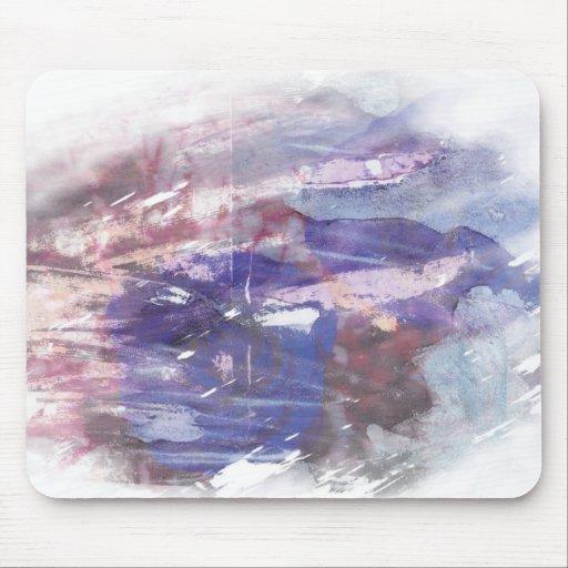 La púrpura y el azul se descoloraron impresión ras mousepad