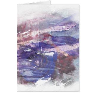 La púrpura y el azul se descoloraron impresión tarjeta de felicitación