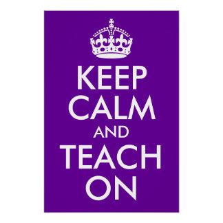 La púrpura y el blanco guardan calma y la enseñan