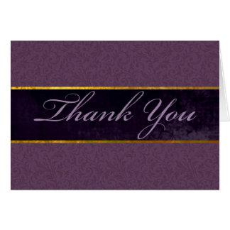 La púrpura y el ciruelo le agradecen cardar tarjeta pequeña
