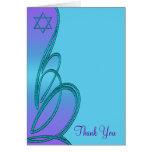 La púrpura y el palo azul Mitzvah del trullo le Tarjetas