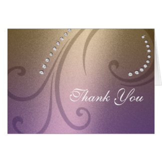 La púrpura y el reflejo y el cristal del oro le ag tarjeta pequeña