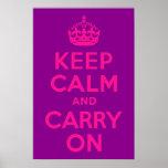 La púrpura y el rosa guardan calma y continúan poster