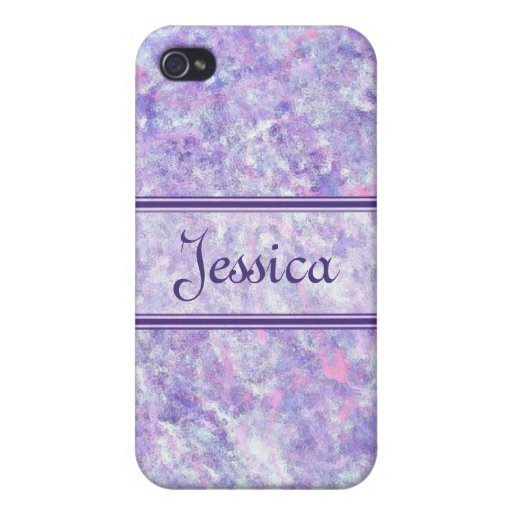 La púrpura y el rosa helaron la caja de la mota de iPhone 4 carcasa