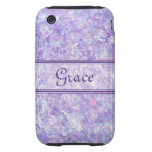 La púrpura y el rosa helaron la caja del iPhone 3G iPhone 3 Tough Carcasas