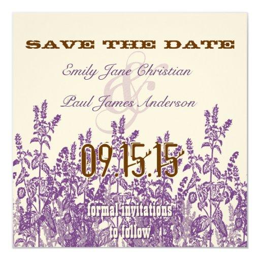 """La púrpura y la flor salvaje de Broon ahorran la Invitación 5.25"""" X 5.25"""""""