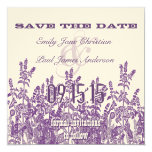 La púrpura y la flor salvaje de la lavanda ahorran invitaciones personalizada