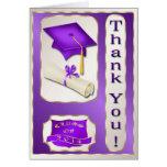 La púrpura y la graduación del oro le agradecen ca tarjetas