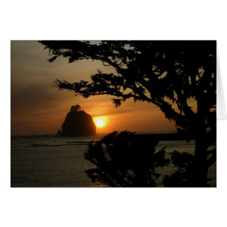 La Push, Washington at Sunset Card