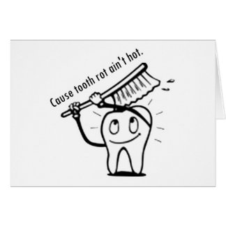La putrefacción del diente no es caliente tarjetas