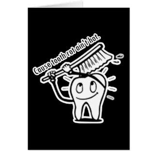 La putrefacción del diente no es caliente tarjeta