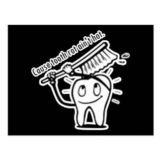 La putrefacción del diente no es caliente postales