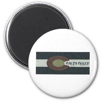 La quebrada de Galt - diseño combinado blanco y Imán Redondo 5 Cm