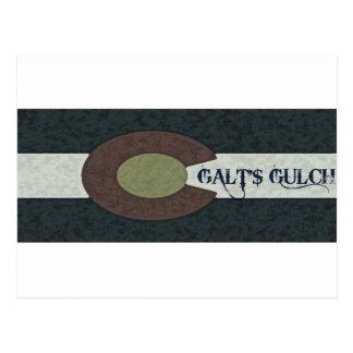 La quebrada de Galt - diseño combinado blanco y Postales
