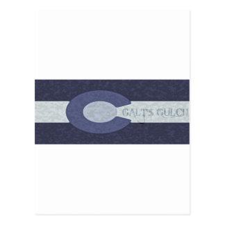 La quebrada de Galt - diseño combinado del azul de Postal
