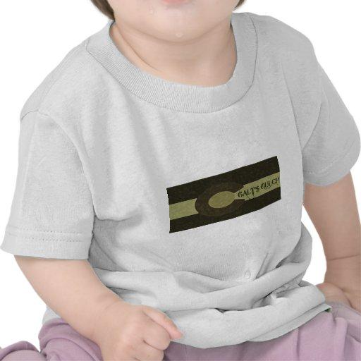 La quebrada de Galt - gris y diseño combinado del Camiseta