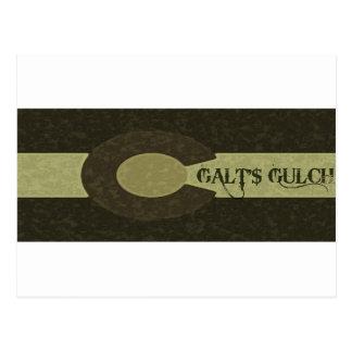 La quebrada de Galt - gris y diseño combinado del Tarjetas Postales