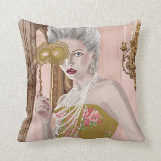 La question c'est voulez-vous ? throw pillow