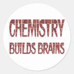 La química construye cerebros pegatina redonda