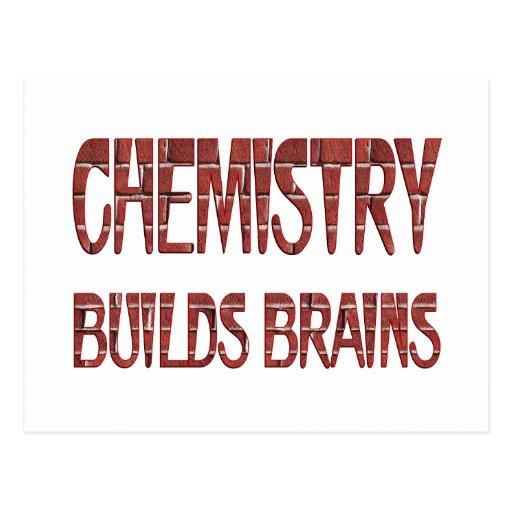La química construye cerebros tarjeta postal