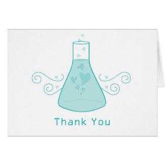 La química dulce de la aguamarina le agradece card tarjeta pequeña