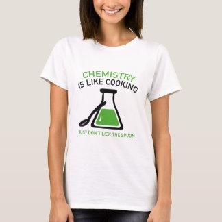 La química es como cocinar playera