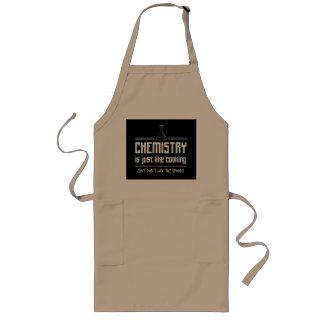 La química es CookingChemistry está cocinando Delantal Largo