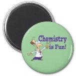 La química es diversión imán de nevera