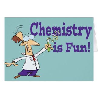 La química es diversión tarjeta de felicitación
