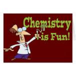 La química es diversión tarjeta