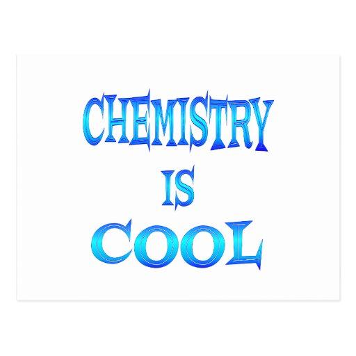 La química es fresca tarjetas postales