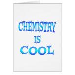 La química es fresca tarjeton