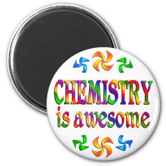 La química es impresionante imán redondo 5 cm
