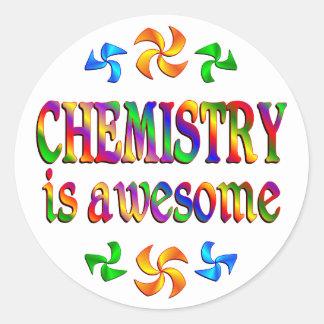 La química es impresionante pegatina redonda