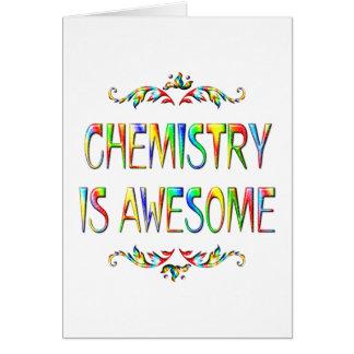 La química es impresionante tarjeta de felicitación