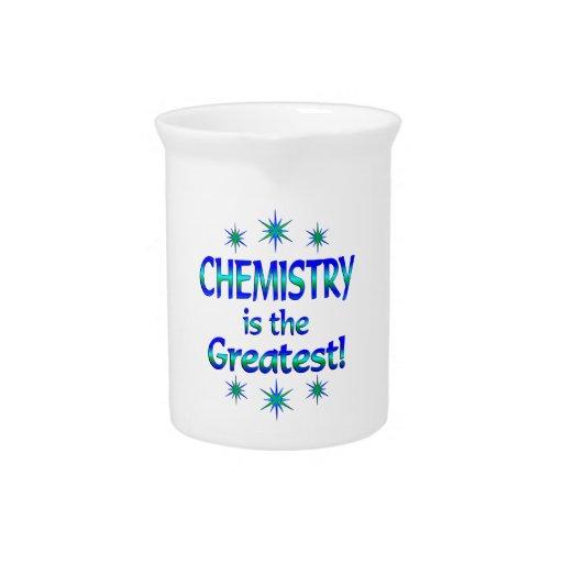 La química es la más grande jarras
